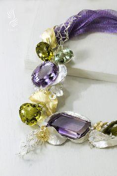莫內水晶花園豪華項鍊 Crystal Garden, Monet, Pandora Charms, Charmed, Crystals, Bracelets, Jewelry, Bangles, Jewellery Making