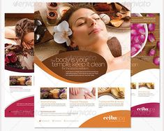 Beauty Spa Flyer Template PSD