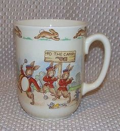 #Royal #doulton #bunnykins to the camp coffee tea mug cup marching band england,  View more on the LINK: http://www.zeppy.io/product/gb/2/191866709673/