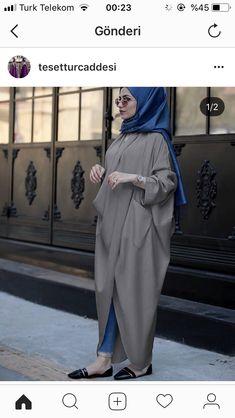 Pinterest : @haf_tima ♥♪ Hijab Gown, Hijab Style Dress, Hijab Chic, Hijab Outfit, Eid Outfits, Cruise Outfits, Fashion Outfits, Modesty Fashion, Abaya Fashion
