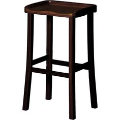 """Tulip 26"""" Counter Height Stool   Caramelized or Black Walnut (set of 2)"""