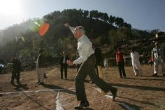 Prime Minster John Howard brings shame upon the nation by delivering a candidate for the worst ball ever bowled during a visit to the northern Pakistan village of Dhanni, where a contingent of Australian military was supplying medical aid.