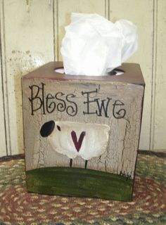 Gainers Creek Crafts: Bless Ewe Tissue Box ;-)