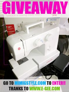 SHARING IS CARING Sewing Machine #GIVEAWAY
