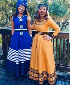 xhosa attire for African women - fashiong ⋆ Shweshwe Dresses, African Maxi Dresses, Latest African Fashion Dresses, African Print Fashion, African Clothes, African Prints, South African Traditional Dresses, Traditional Outfits, Traditional Wedding