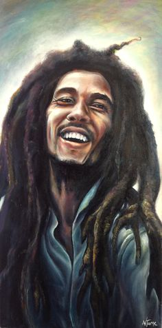 by Natalie Tame *Bob Marley* More fantastic pictures and videos of Bob Marley… Fotos Do Bob Marley, Bob Marley Art, Reggae Bob Marley, African American Art, African Art, Bob Marley Painting, Rasta Art, Reggae Art, Bob Marley Pictures