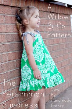 Handmade Frenzy: The Persimmon Sundress - A Willow & Co Pattern