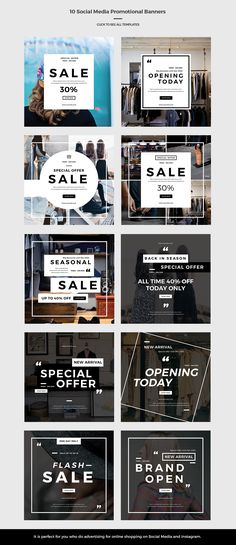 Social Media Promotional Banners by Pastostudio on @creativemarket