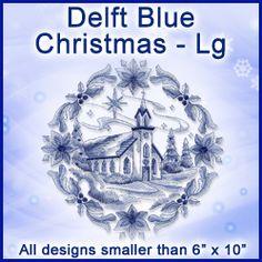 A Delft Blue Christmas Design Pack - Lg design (X0265) from www.Emblibrary.com