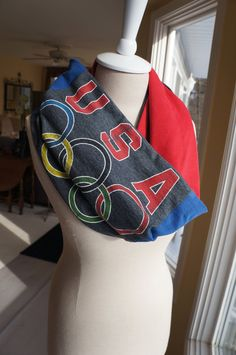 Team USA infinity scarf!! I NEEEEED THIS!!