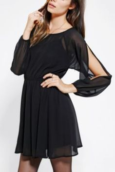 Pins And Needles Long-Sleeve Cold Shoulder Dress