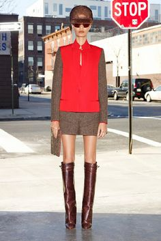 red and tweed Givenchy