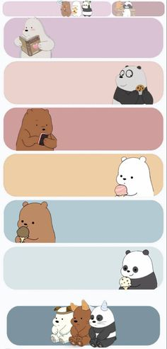 Cute Panda Wallpaper, Cute Pastel Wallpaper, Cartoon Wallpaper Iphone, Cute Patterns Wallpaper, Bear Wallpaper, Cute Disney Wallpaper, Kawaii Wallpaper, Cute Wallpaper Backgrounds, We Bare Bears Wallpapers