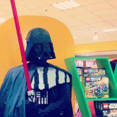 Random encounter while gf was shopping. Hello there Lego Vader #StarWars #Lego
