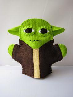 Recent Creations - Yoda Star Wars Felt Glove Puppet Toy