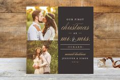 MR. AND MRS. Holiday Photo Cards by Pistols at minted.com