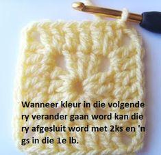 Hekel Idees: Hekel Tutoriaal: Soliede Vierkant Afrikaans, Chalk Paint, Knitted Hats, Crochet Patterns, Knitting, Words, Tricot, Crochet Pattern, Breien