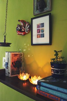 all things nice- an Indian decor blog: Our Little Green Wall of Frames- Part II