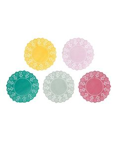 Look at this 300-Piece Truly Scrumptious Doily Set on #zulily today!