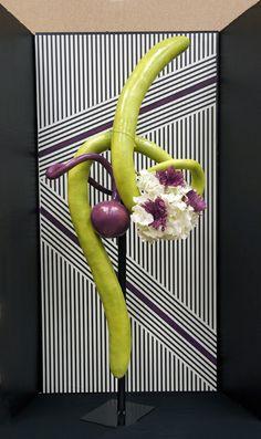 Photo in Flower Show 2017 Section A - Google Photos Abstract Designs, Floral Designs, Modern Flower Arrangements, Garden Club, Gourd Art, Flower Show, Abstract Flowers, Ikebana, Flower Crafts