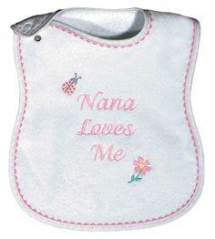 Some Grandmas are Nanas! Made in USA. www.RaindropsBaby.com