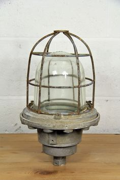 Industrial ships cage light by No6Warehouse on Etsy
