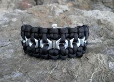 Hex nut Custom Paracord Survival Bracelet Adjustable by Liquorbox