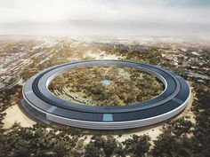 Apple headquarters (Cupertino,California) Designed by Norman Foster (Not completed) Norman Foster, Apple Campus 2, Steve Jobs, Santiago Calatrava, Zaha Hadid, Sede Da Apple, Apple Headquarters, Apple Picture, Cars