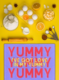 Tempered Glass Cutting Board, Yummy Yummy Yummy, I've got Love in my Tummy Glass Printing, Glass Cutting Board, Kitchen Gifts, Yummy Yummy, Different Colors, Craft Supplies, Great Gifts, Handmade Gifts, Etsy