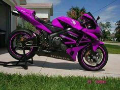 Trendy Chopper Motorcycle Honda Posts Ideas Source by Motorbike Girl, Chopper Motorcycle, Purple Motorcycle, Custom Sport Bikes, Futuristic Motorcycle, Cool Motorcycles, Honda Motorcycles Cbr, Biker Chick, Super Bikes