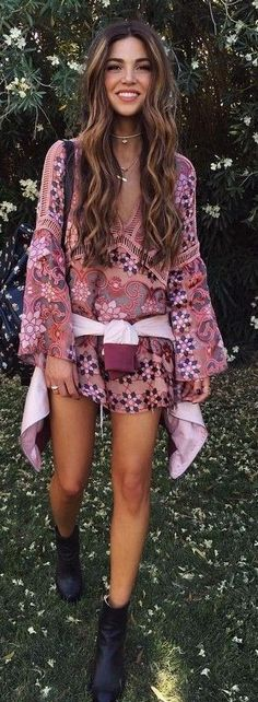 Coachella Print Romper                                                                             Source