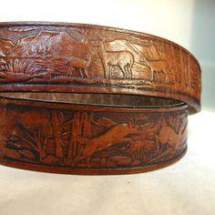 al stohlman design of hand tooled leather belt--vintage #tooled #belt #stohlman @www.etsy.com/shop/boudoirbarbie