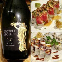 Sushi con Rosell Boher Brut !!! Alto maridaje