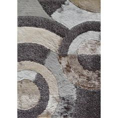 Shop for Shaggy Viscose Collection Earth 27 Beige/Brown/Silver/Grey Polyester Hand-tufted Area Rug (5' x 7'). Get free shipping at Overstock.com - Your Online Home Decor Outlet Store! Get 5% in rewards with Club O!
