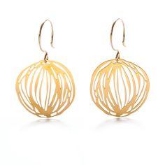 Twine pendant earrings for $78.00 - eco modern jewelry