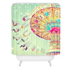 Shannon Clark Swinging Through Stars Shower Curtain | DENY Designs Home Accessories