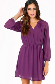 Tara Chiffon Dress $33 at www.tobi.com