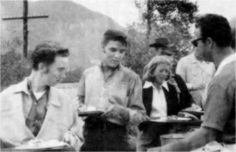 Lunch times on the movie set in september 1956.