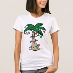 Tropical Christmas Tree T-Shirt - click/tap to personalize and buy