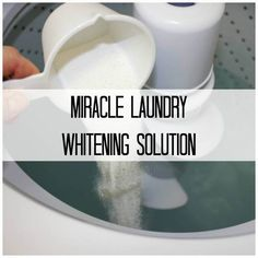 The Secret To Getting Whiter Whites In Your Laundry Laundry is not always everyone's favorite subject when it comes to homemaking. It's tedious and sometimes frustrating to get it all done in the amount of time you have. And even worse… Whiten White Clothes, Washing White Clothes, Cleaning White Clothes, How To Whiten Clothes, Dingy Whites, Whiter Whites, Laundry Whites Whiter, Whitest Whites Laundry, Remove Yellow Stains