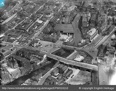 Wellington Bridge and Mersey Bridge, Stockport, 1927