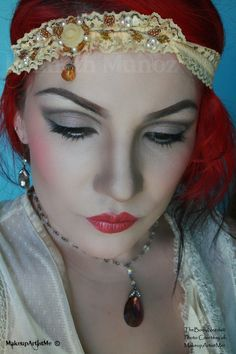 """""""1920s"""" by MakeupArtistMe! """"Moonwalk, Belladonna and Snow White pigments. Blush in """"Gypsy"""", lippie in """"Smashed"""" with """"Metallic Merlot"""" applied on top."""