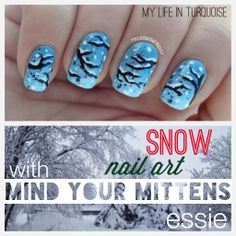 My Life in Turquoise - Snow Nail Art