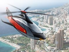 FERRARI HELICOPTER, future vehicle, future helicopter, futuristic helicopter, concept, aircraft, futurism by FuturisticNews.com