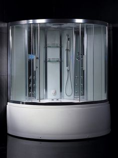 $3,990.00 Ariel Platinum DA324HF3 Steam Shower with Whirlpool Bathtub