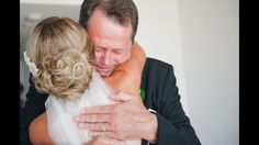 Dad's first look at the bride