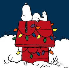 Because it would not be Christmas without Snoopy being on any Christmas board