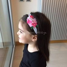 baby hair band, felt hair band,felt flower,bebek saç bandı,saç bandı,keçe saç bandı,pink,penbe saç bandı