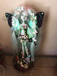 Monster Doll High Repaint. Butterfly Fairy. SOLD to Elettsdoit 2 of 4