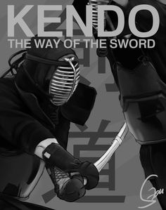kendo poster | Kendo, The Way of the Sword - Digital Painting by VictorSaddler on ...